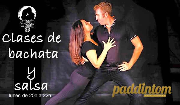 Clases de bachata y salsa. Antonio & Rocio BS en Paddintom Café & Copas