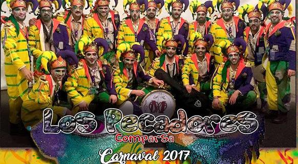 """El Domingo 12 a las 18,00h, puedes disfrutar de la actuación de la comparsa carnavalera de Sevilla """"Los pecadores"""","""
