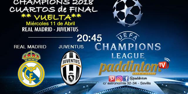 Champions League 2018 Cuartos de Finalpartidos de vuelta. Miércoles 11 de Abril a las 20:45. Real Madrid - Juventus. Ron Barceló a 4€