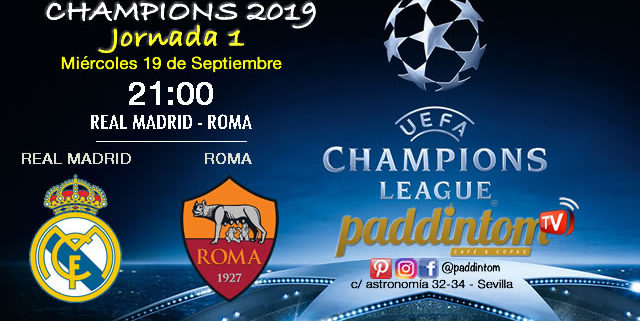 Champions League 2019 Fase de Grupos Jornada 1Miércoles 19 de Septiembre a las 21:00 Real Madrid-Roma & Valencia-Juventus. Promoción copa Ron Barceló a 4€