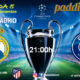 Champions League 2020 Jornada 5. Martes 26 de Noviembre, Real Madrid - PSG a las 21.00h y Juventus - Atlético de Madrid - a las 21.00h Paddintom Café & Copas
