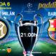 Champions League 2020 Jornada 6. Martes 10 de Diciembre, Inter de Milán - Barcelona a las 21.00h y Ajax - Valencia a las 21.00h. Ven a verlos Paddintom Café & Copas