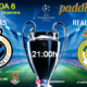 Champions League 2020 Jornada 6. Miércoles 11 de Diciembre, Brujas - Real Madrid a las 21.00h y Atlético de Madrid - Lokomotiv a las 21.00h. Paddintom Café & Copas