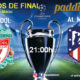 Champions League 2020 Octavos de Final - Vuelta. Miércoles 11 de Marzo, Liverpool - Atlético de Madrid a las 21.00hen TV en Paddintom Café & Copas