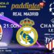 Champions League 2022 - Fase de grupos jornada 3. Martes 19 de Octubre, Sharkhtar - Real Madrid a las 21.00h y Atlético de Madrid - Liverpool a las 21.00h. Promoción copa J&B a 4€ en Paddintom Café & Copas