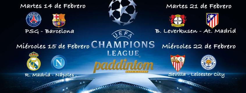 Octavos de Final de la Champions League. Martes 14 de Febrero: PSG - Barcelona a las 20.45h. Miércoles 15 de Febrero: Real Madrid - Nápoles a las 20.45h
