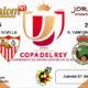 Jornada de la Copa del Rey 2019 Treintaidosavos de final. Jueves 1 de Noviembre: Villanovense - Sevilla a las 16,15h y Racing Santander - Betis a las 20,45h