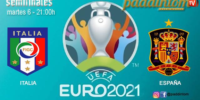 UEFA Euro 2021. Semifinales. Martes 6 de Julio, Italia - España a las 21.00h. Disfruta de nuestra promoción de tu copa de J&B a 4€ con tu grupo de amigos en nuestras pantallas de TV en Paddintom Café & Copas