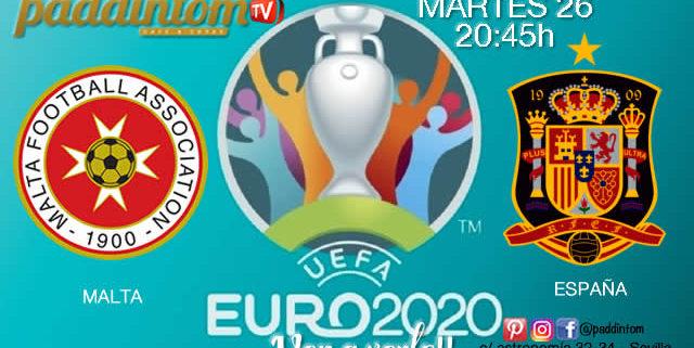 ⚽??EURO 2020 Clasificación. Martes 26 de Marzo Malta-Españaa las 20.45hPromoción de tu copa de?‼️Ron Barceló a 4€ TV en Paddintom Café & Copas