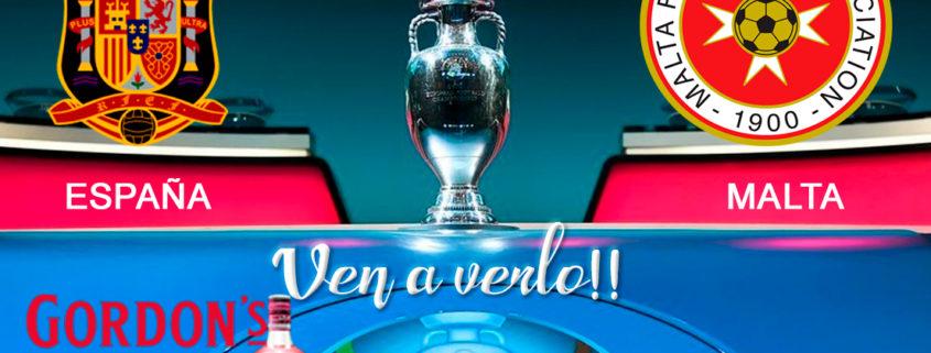 ⚽??EUROCOPA 2020 Clasificación. Viernes 15 de Noviembre. España - Malta a las 20.45h- Promoción copa de?‼️Ron Barceló a 4€ . TV en Paddintom Café & Copas