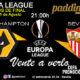 Europa League 2020 Cuartos de Final. Martes 11 de Agosto. Wolverhampton - Sevilla a las 21.00h. Promoción copa Ron Barceló a 4€ en Paddintom Café & Copas