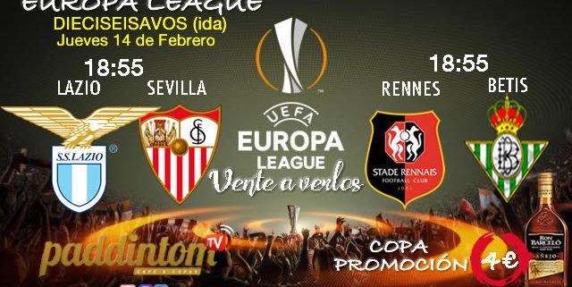 Europa League 2019 Dieciseisavos de Final. Jueves 14 de Diciembre