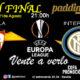 Europa League 2020 GRAN FINAL. Viernes 21 de Agosto, Sevilla - Inter Milán a las 21.00h. Promoción copa Ron Barceló 4€ en Paddintom Café & Copas