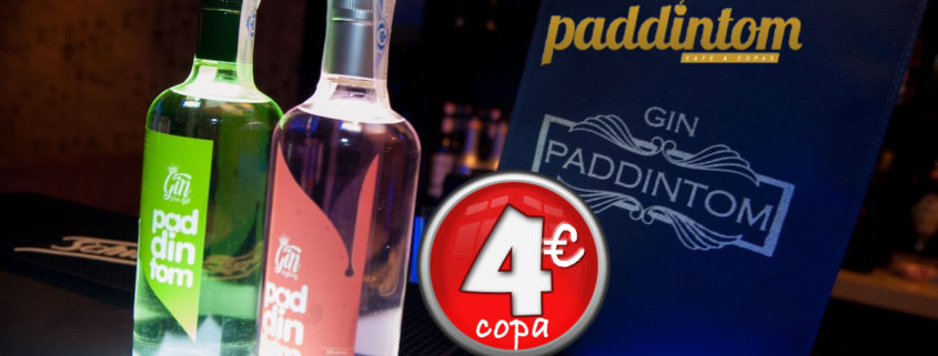 Promoción Ginebra Gyn Paddintom Green Apple y Raspberry copa a 4€