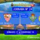Jornada 23 Liga Santander 1ª División. Sábado 17 de Febrero: Las Palmas - Sevilla 13,00h. Domingo 18 de Febrero: Betis - Real Madrid a las 20,45h