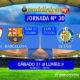 Jornada 30 Liga Santander 1ª División. Sábado 31 de Marzo: Sevilla -Barcelona a las 20,45h. Lunes 2 de Abril: Getafe - Betis a las 21,00h