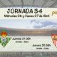 Jornada nº 34 de la Liga Santander en una jornada entre semana. Jueves 27 de Abril: Athletic de Bilbao-Betis 21.30h. Sevilla- Celta de Vigo a las 20.30h
