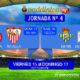 Jornada 4 Liga Santander 1ª División. Sábado 16 de Septiembre: Betis - Deportivo a las 18.30h. Domingo 17 de Septiembre: Girona - Sevilla a las 16.15h