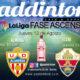 La Liga SmartBank Ascenso a 1ª División. Partidos de Ida. Girona - Almería el Jueves 13 a las 19:30h y Elche - Zaragoza elJueves 13 a las 22.00h. Ven a verlos a Paddintom Café & Copas