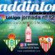Jornada 12 Liga Santander 1ª División. Sábado 2 de Noviembre, Real Madrid-Betis a las 21.00h y Sevilla-Atlético de Madrid a las 18.30h. Paddintom Café & Copas