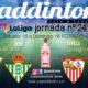 Jornada 24 Liga Santander 1ª División 2020. Domingo 16 de Febrero. Leganés - Betis a las 14.00h y Sevilla - Espanyola las 12.00h TV en Paddintom Café & Copas