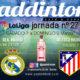 Jornada 27 Liga Santander 1ª División. Sábado 7 de Marzo, Atlético de Madrid - Sevilla a las 16.00h y Domingo 8 de Marzo, Betis - Real Madrida las 21.00h