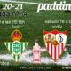 Jornada 14 Liga Santander 1ª División. Sábado 19 de Diciembre, Sevilla - Valladolid a las 21.00h y Domingo 20 de Diciembre, Granada - Betis a las 16.15h. Ven a verlo a Paddintom Café & Copas