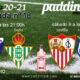 Jornada 18 Liga Santander 1ª División. Sábado 9 de Enero, Sevilla - Real Sociedad a las 14.00h y Lunes 11 de Enero, Huesca - Betis a las 21.00h. Ven a verlos a Paddintom Café & Copas