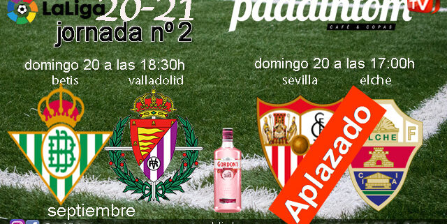 Jornada 2 Liga Santander 1ª División 2021. Betis-Valladolid / Domingo 20 a las 18.30h