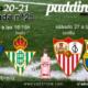 Jornada 25 Liga Santander 1ª División. Domingo 28 de Febrero, Cádiz - Betis a las 16.15h y Sábado 27 de Febrero, Sevilla - Barcelona a las 16.15h. Ven a verlos a Paddintom Café & Copas
