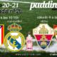 Jornada 26 Liga Santander 1ª División. Sábado 6 de Marzo, Elche - Sevilla a las 16.15h y Domingo 7 de Marzo, Atlético de Madrid - Real Madrid a las 16.15h. Ven a verlos a Paddintom Café & Copas