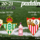 Jornada 29 Liga Santander 1ª División 2021. Domongo 4 de Abril, Elche - Betis a las 16.15h y Sevilla - Atlético de Madrid a las 21.00h. Ven a verlos a Paddintom Café & Copas