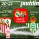 Jornada 30 Liga Santander 1ª División. Sábado 10 de Abril, Real Madrid - Barcelona a las 21.00h. Domingo 11 de Abril, Betis - Atlético de Madrid a las 21.00h y Lunes 12 de Abril, Celta - Sevilla a las 21.00h. Ven a verlos a Paddintom Café & Copas