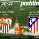Jornada 32 Liga Santander 1ª División. Miércoles 21 de Abril, Levante - Sevilla a las 19.00h - Jueves 22 de Abril, Atlético de Madrid - Huesca a las 19.00h. Ven a verlos a Paddintom Café & Copas