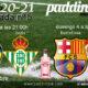 Jornada 5 Liga Santander 1ª División 2021. Barcelona - Sevilla / Domingo 4 a las 21.00hy Valencia - Betis/ Sábado 3 a las 21.00h. Ven a verlo a Paddintom Café & Copas