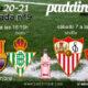 Jornada 9 Liga Santander 1ª División 2021. Sábado 7 de Noviembre, Barcelona - Betis a las 16.15hy Sevilla - Osasuna a las 18.30h. Ven a verlos a Paddintom Café & Copas