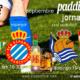 Jornada 5 Liga Santander. Domingo 19 de Septiembre, Real Sociedad - Sevilla a las 16.15h y Betis - Espanyol a las 18.30h. Copa de J&B a 4€ en Paddintom Café & Copas