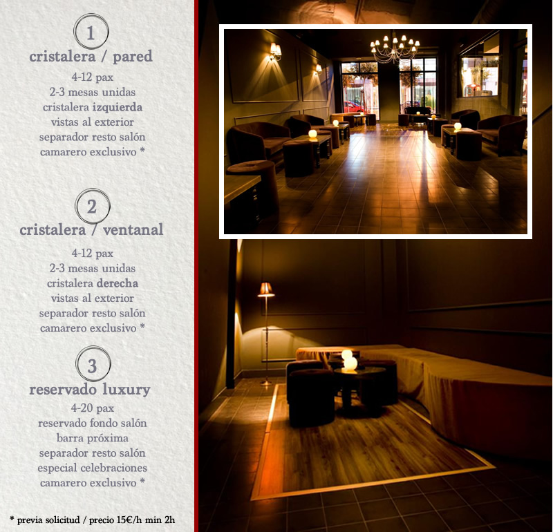 Reserve su zona privada en Paddintom Café & Copas