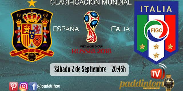 España - Italia. Dos campeonas del mundo, se juegan ser primera de grupo en la clasificación para el Mundial 2018.Sábado 2 de Septiembre a las 20.45h